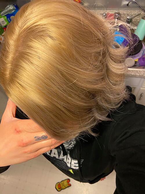 Bleaching Dyed Hair