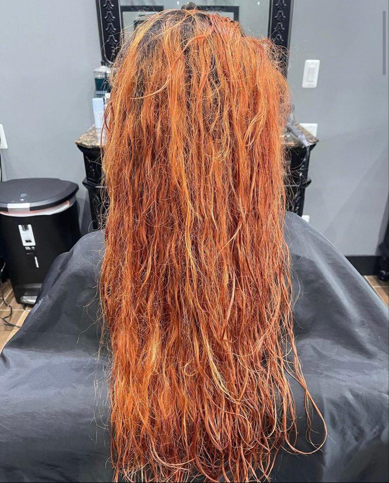 Red & Orange Hair - Before