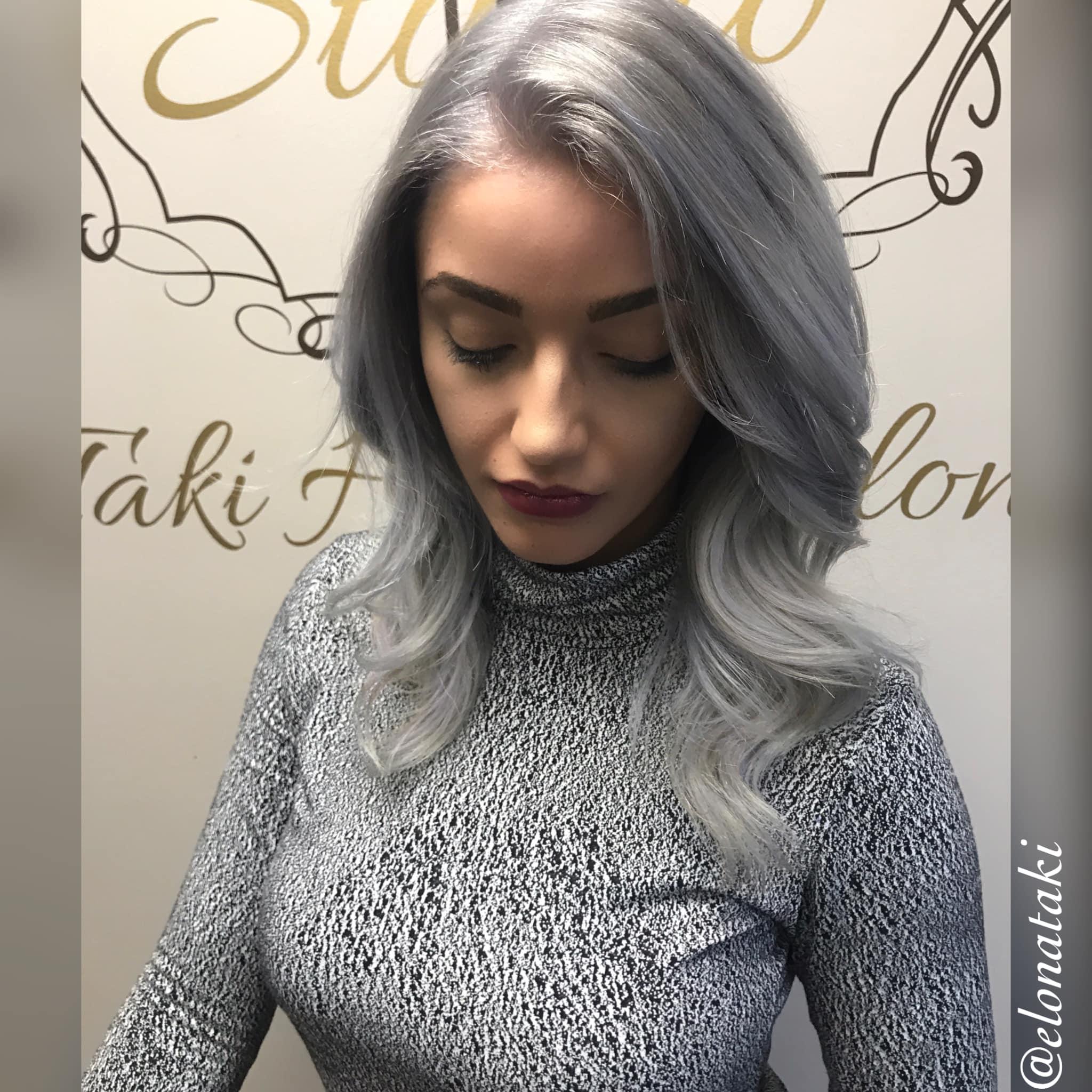 SIlver & metallic Grey