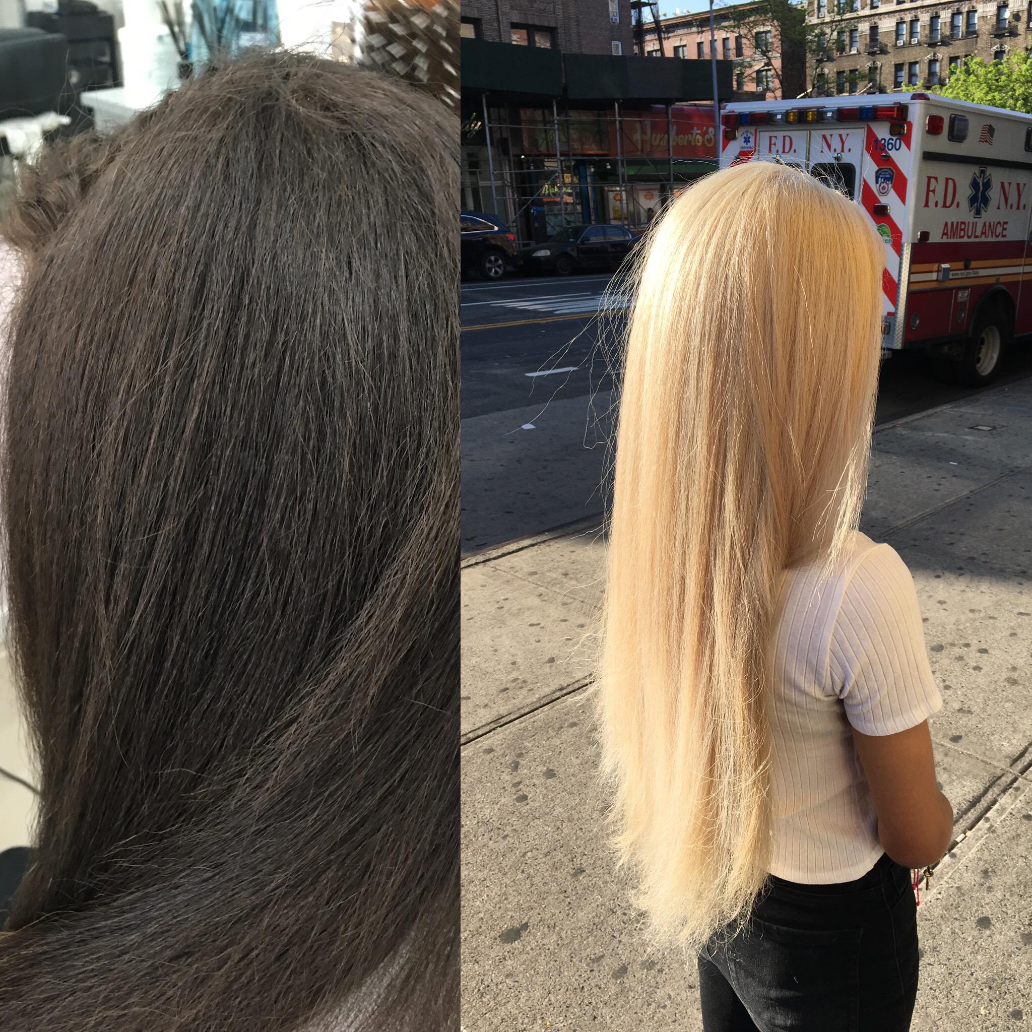 Bleaching Dark Hair Blonde