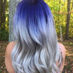 Blue , Violet and Silver Shadow Look