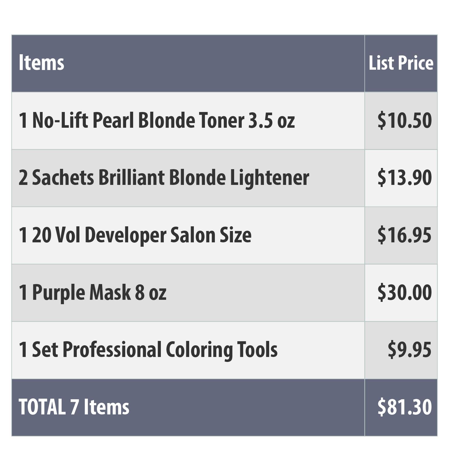 Pearl Blonde Set
