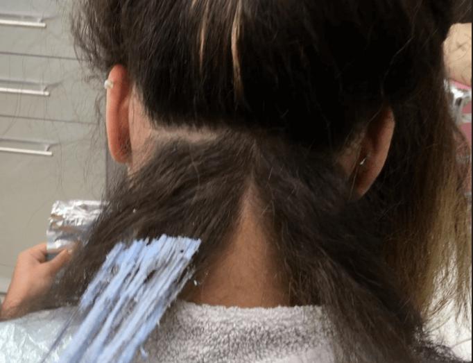 Start Applying Bleach From The Back