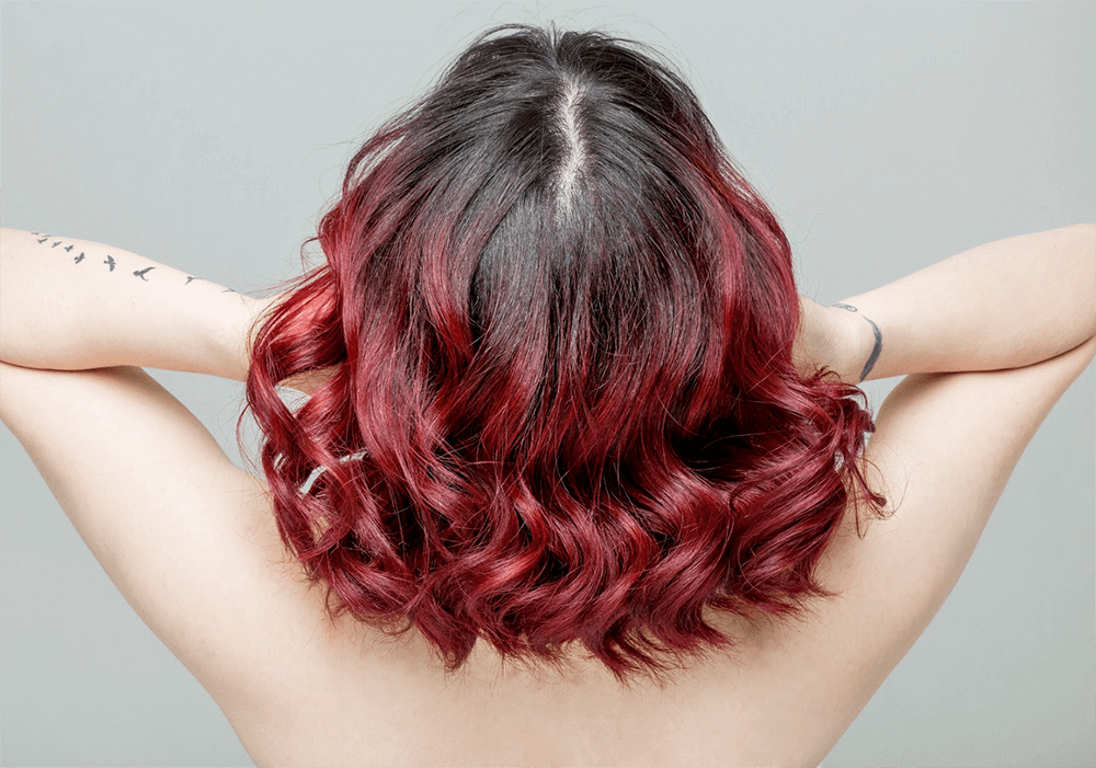 Vibrant Ruby Red Hair