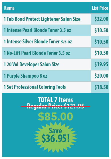 Blonding Set Contains