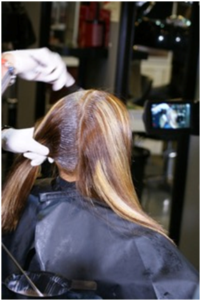 Hair After Color Application