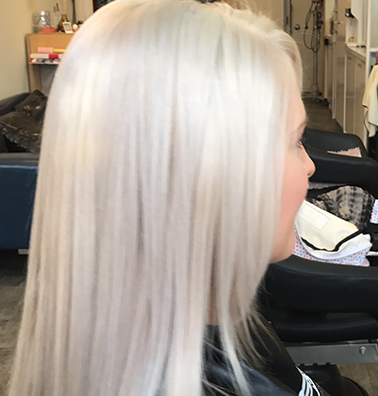 Ash Blonde Hair - All Brassiness Removed
